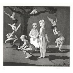 Tilly in Kensington Gardens  by Paula Rego  1989    Etching with aquatint, signed and numbered. Edition of 100. In pencil, plate size 29.4 x 32.5cm (11.5 x 12.75ins)