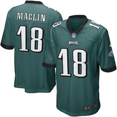 Mens Nike Philadelphia Eagles http://#18 Jeremy Maclin Game Team Color Green Jersey$79.99