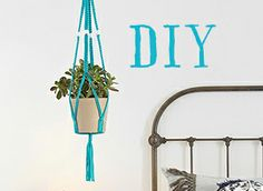 Maak het zelf: hangende bloempotten