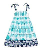 Fusion Dress Marigold Dots Turquoise