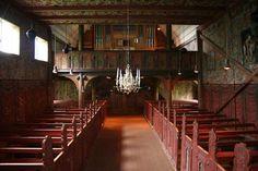 Røldal stavkyrkje - Kirker i Norge - interiør