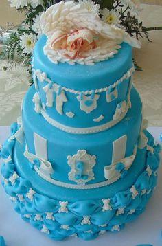 FLOWER CAKE DESIGNER: Bolo de batizado!!!