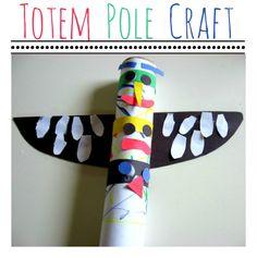 Totem pole craft for kids