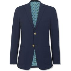 The Navy Seersucker Sportcoat. Everything about this is my favorite thing about this. Except the cost.