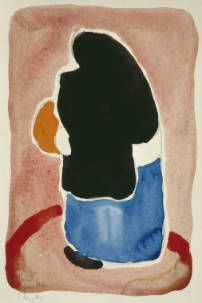 Untitled (Woman with Black Shawl) O'Keeffe, Georgia 1918 watercolor and graphite on paper Dim 8 x 6 in Georgia O'keefe Art, Georgia O Keeffe Paintings, Georgia Okeefe, New York Art, Mexican Art, Community Art, American Artists, Abstract, Canyon Texas
