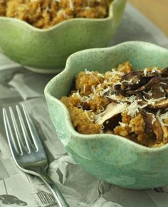 Cauliflower Risotto with Roasted Mushrooms by foodiefiasco.com