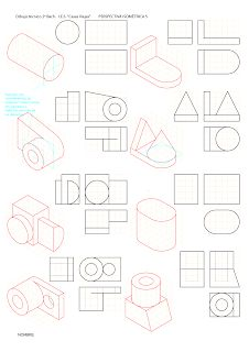Drawing Lessons, Drawing Techniques, Isometric Drawing Exercises, Orthographic Drawing, Interesting Drawings, Geometric Drawing, Drawing Sketches, Sketching, Technical Drawing