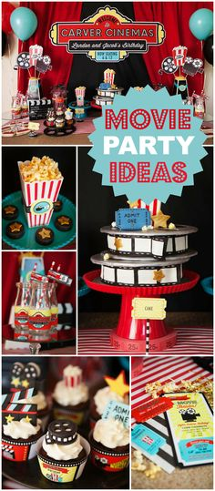 This Hollywood movie party rolls out the red carpet! See more party ideas at Cat. Movie Theater Party, Cinema Party, Movie Night Party, Party Time, Kids Movie Party, Movie Nights, Hollywood Party, Sleepover Party, 13th Birthday Parties