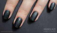 """""""To get the first look, I took Konad Stamping plate M57 - with my regular Nubar Diamont top coat – and placed a fun zebra pattern on top of one of my favorite mattes ever: Matte is Murder by ManGlaze!"""""""