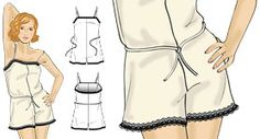 Pattern for Retro playsuit