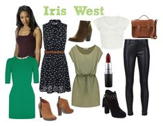 """""""Iris West inspired outfits"""" by lizzynupa ❤ liked on Polyvore featuring Tommy Hilfiger, New Look, RtA, Jessica Simpson, Reneeze, Dolce&Gabbana, The Cambridge Satchel Company, MAC Cosmetics, DC and theflash"""