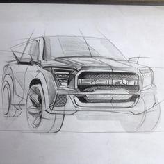 Karakalem araba çizimi.