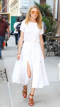 Olivia Palermo Just Made a White T-Shirt Look So Chic via @WhoWhatWearUK