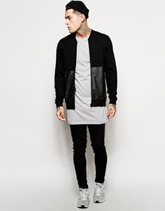 Enlarge ASOS Super Longline Long Sleeve T-Shirt