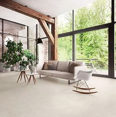 Buy online Highstone light By ceramica sant'agostino, porcelain stoneware wall/floor tiles with stone effect, highstone Collection Beige Living Rooms, Living Room Modern, Home Building Design, Living Room Flooring, Wall And Floor Tiles, Interior Design, Home Decor, Stone, Porcelain Tiles