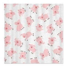 Cute Little Loads of Pink Pigs Shower Curtain - I'm not sure why I don't have this yet!