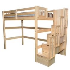 Encore Stairway Single Loft Bed