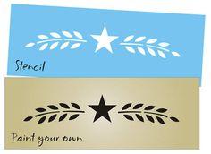 "Primitive Stencil 8"" Willow Vine Branch Barn Star Country Signs Folk Art Border | eBay"