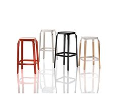 Shop Modern Stools at Peruse Bar Stools and Counter Stools for the kitchen and Low Stools for dining tables. Kitchen Stools, Counter Stools, Chair Design, Furniture Design, Ronan & Erwan Bouroullec, Restoration Hardware Chair, High Stool, Modern Bar Stools, Contemporary Furniture