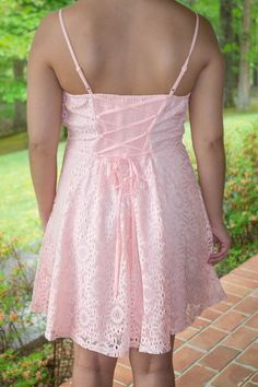 Pink Lace Dress- Pretty Dresses- Preppy Dress