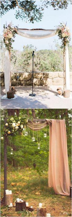 Rustic wedding arches & alter wedding ideas / http://www.deerpearlflowers.com/wedding-ceremony-arches-and-altars/ #weddingideas