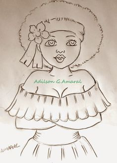 Cartoon Sketches, Cartoon Pics, Dancing Drawings, Art Drawings, Colouring Pages, Coloring Books, Felt Patterns, Afro Art, Learn To Paint