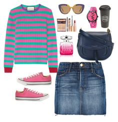 """""""Busy big day!"""" by jasive-asseff-jamous ❤ liked on Polyvore featuring Frame Denim, Gucci, Marni, Marc Jacobs, Converse, Jimmy Choo, Calvin Klein and The Created Co."""