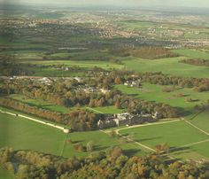 Wentworth Woodhouse, Rotherham, South Yorkshire, England West Facade Aerial View 2