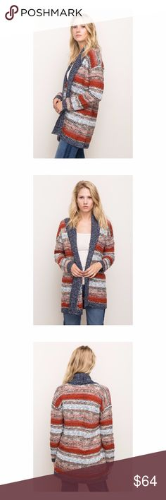 🆕 Mix Yarn Shawl Collar Cardigan Another great sweater to add to your wardrobe for the colder months! Mix yarn shawl collar cardigan.  Material: 80% acrylic, 15% poly, 5% wool. Mystree Sweaters Cardigans