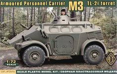 Model - Panhard M3 4x4 APC TL-2i Turret - Ace Models 72414 - The Panhard M3 is a vehicle carrying troops of French firm Panhard