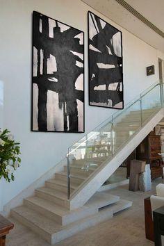 Set of 2 Minimal Art Textured Canvas Art, Diy Canvas Art, Acrylic Painting Canvas, Black White Art, Expressive Art, Paint Set, Texture Art, Art Pictures, House Design