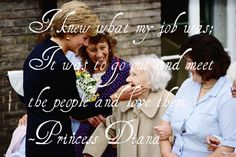 Princess Diana./****And she did her job, even when others didn't notice, or didn't do theirs. That's what seemed to surprise the Royal Family so much.