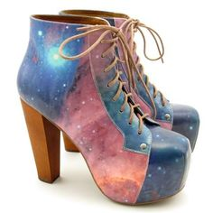 Jeffery Campbell - Lita Platform Galaxy Print..... once again....WANT!!