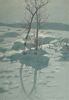 Bror Lindh (1877-1941): 'A Winter's Night'