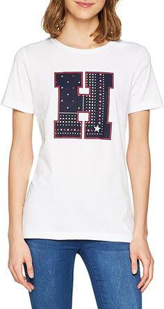 TH  Bekleidung, Damen, Tops, T-Shirts & Blusen, T-Shirts Tommy Hilfiger Shirt, Tommy Hilfiger Damen, T Shirt Online Shop, Shirt Bluse, Trends, Super, V Neck, Tops, Brother