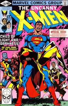 Cry Superman!  Mashed covers:  Uncanny X-Men #136  Crisis on Infinite Earths #7  Superman the Man of Steel #1