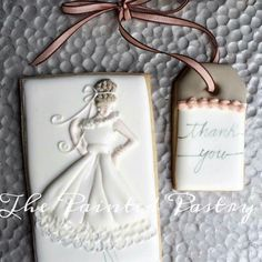 The Painted Pastry:  Bride.  Thank you.  Decorated cookies.   ♡♡♡♡♡