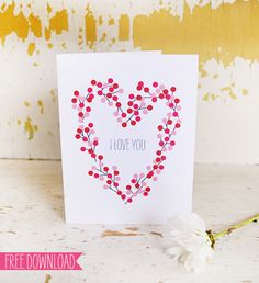 DIY - Valentine Card (5 card styles available) - Free PDF Template