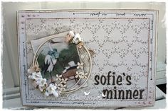 Decorated Memories Box by LLC DT Member Elin Torbergsen. Papers from Pion Design's A Day in May collection.