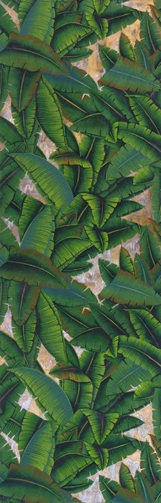 "Design ""Jardinieres Citrus Trees"" in colori standard su seta Williamsburg dipinta in blu-verde personalizzato. | de Gournay"