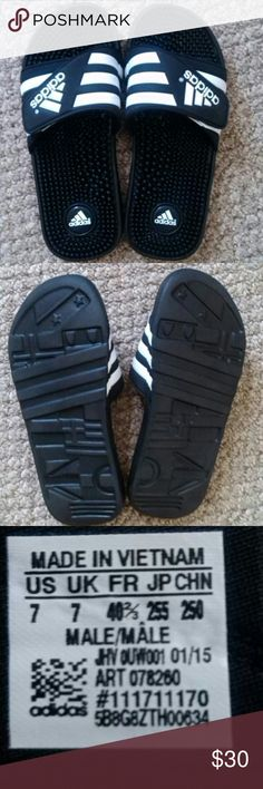 "Men's Adidas Sandals Men's Adidas Sandals. Size 7. Made in Vietnam. Original price $30 from kohl's. NEW BUT NEVER BEEN WORN ""WITHOUT TAGS."" Adidas Shoes Sandals & Flip-Flops"