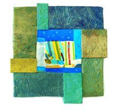 Priscilla Robinson-handmade paper & fused glass