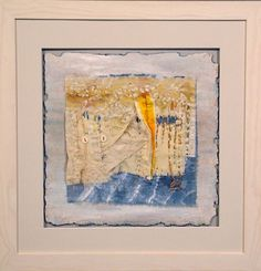 Rosemary Hill - edge - textile artists scotland - gallery -    I like the tucks and seams in the piece