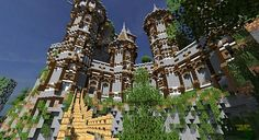 Medieval Castle and Village Minecraft World Save