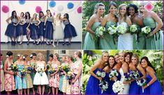 φορέματα bridesmaids στην ίδια φωτογραφία, συγχαρητήρια για το χορό του γάμου