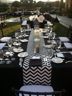 Chevron Table Runner at our wedding