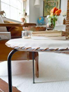 minimal leather stool