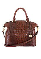 "Brahmin Large Duxbury Satchel Melbourne Look how he masters the art of ""croc embossed leather"" - looks like real croc leather doesn't it ? Brahmin Handbags, Brahmin Bags, Fall Handbags, Burberry Handbags, Chanel Handbags, Handbags On Sale, Luxury Handbags, Fashion Handbags, Purses And Handbags"