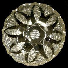 American Brilliant Cut Glass Bowl Delphos by SterlingandGlass