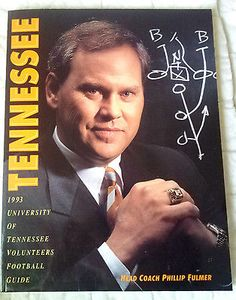 1993 Tennessee Football Media Guide - Phillip Fulmer